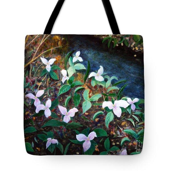 Trilium Woods Tote Bag