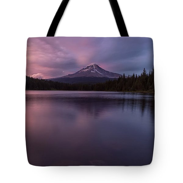 Tote Bag featuring the photograph Trillium Lake Glow by Patricia Davidson