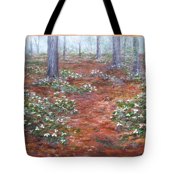 Trilliums After The Rain Tote Bag