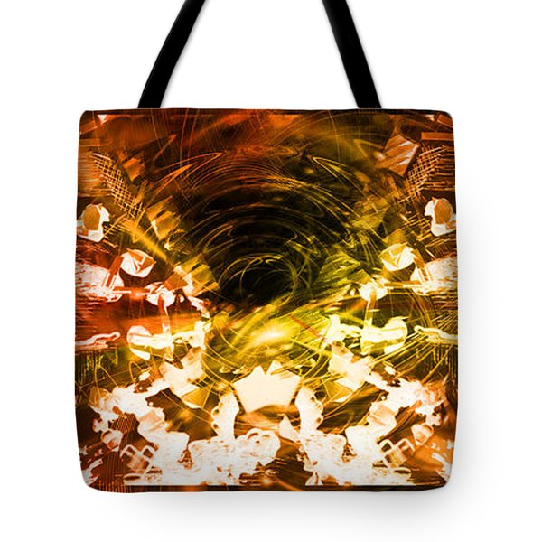 Tote Bag featuring the digital art Trilogy by Art Di