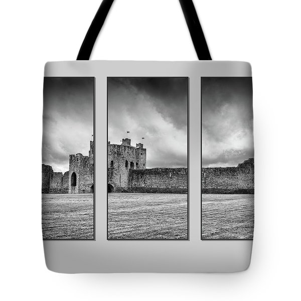 Trim Castle Triptych  Tote Bag by Martina Fagan