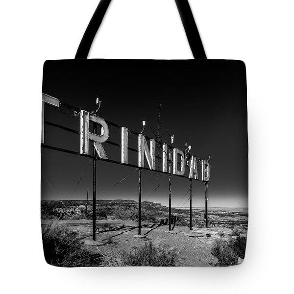 Trinidad Colorado Sign Simpsons Rest Tote Bag