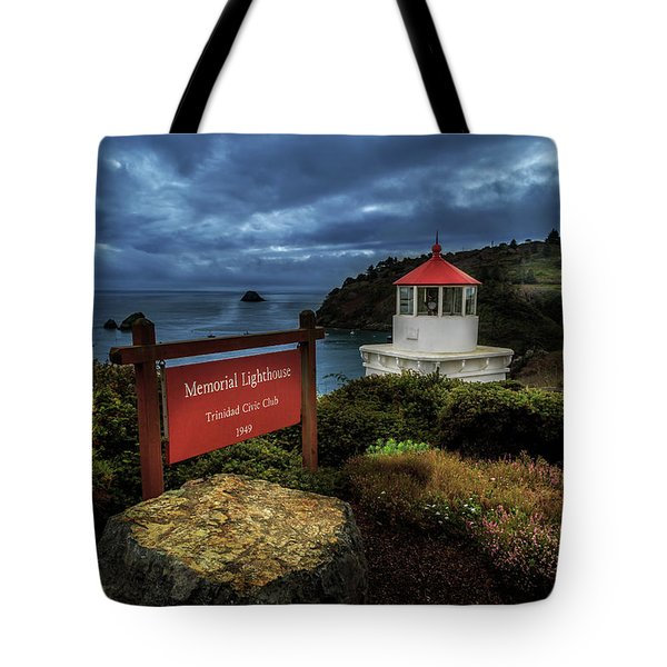 Trinidad Memorial Lighthouse Tote Bag by James Eddy