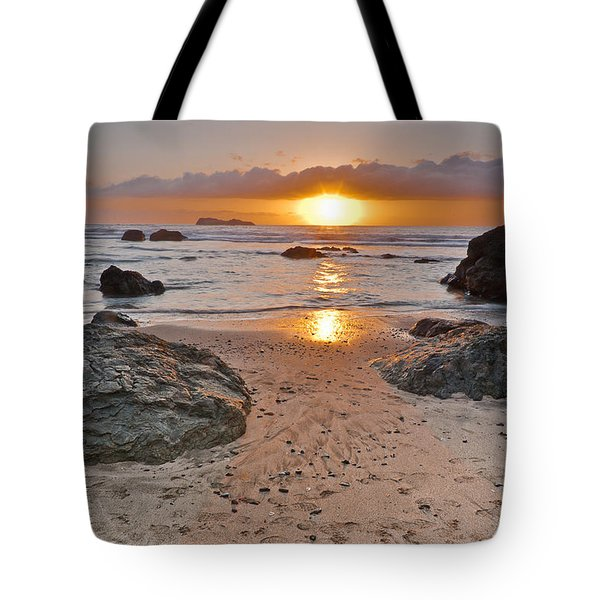 Trinidad State Beach Sunset Tote Bag