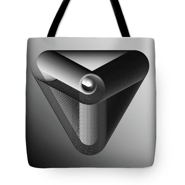 Tote Bag featuring the digital art Trinity Black by Susan Maxwell Schmidt