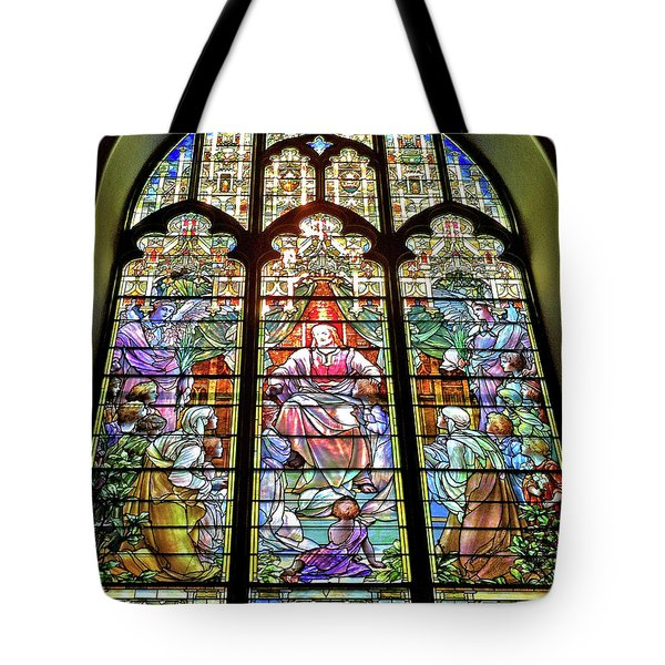 Tote Bag featuring the photograph Trinity Church Galveston by Wilhelm Hufnagl
