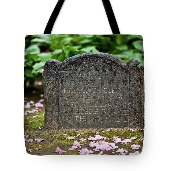 Trinity Church Tombstone Tote Bag