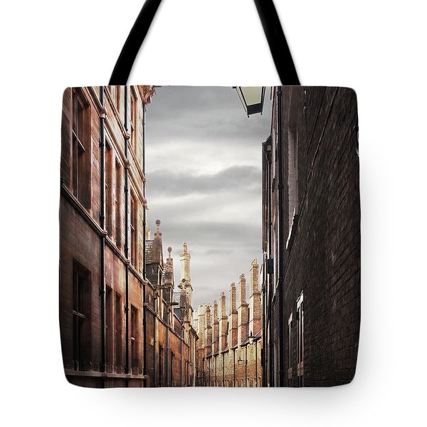 Tote Bag featuring the photograph Trinity Lane Cambridge by Gill Billington