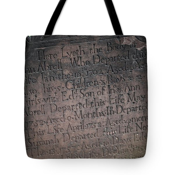 Trinity Tombstone Tote Bag