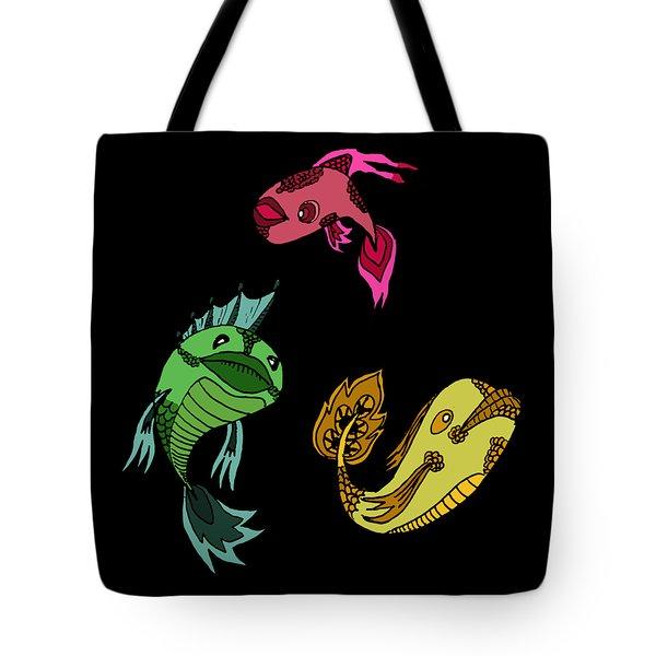 Trio Fish Tote Bag