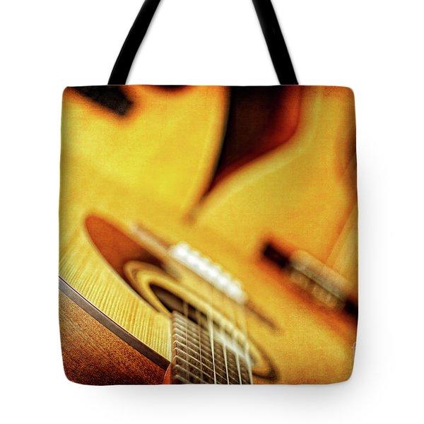 Trio Of Acoustic Guitars Tote Bag