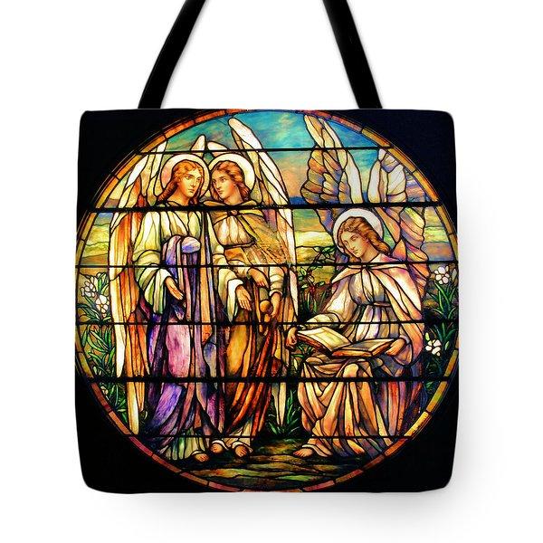 Trio Of Angels Tote Bag by Kristin Elmquist