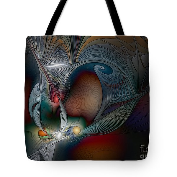 Tote Bag featuring the digital art Trip Into Unknown by Karin Kuhlmann