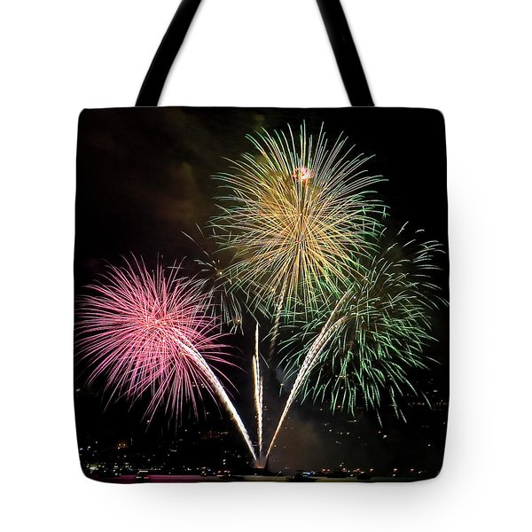 Triple Color Tote Bag by David Patterson