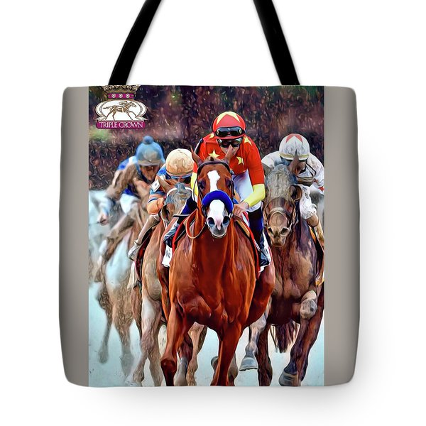 Triple Crown Winner Justify 2 Tote Bag