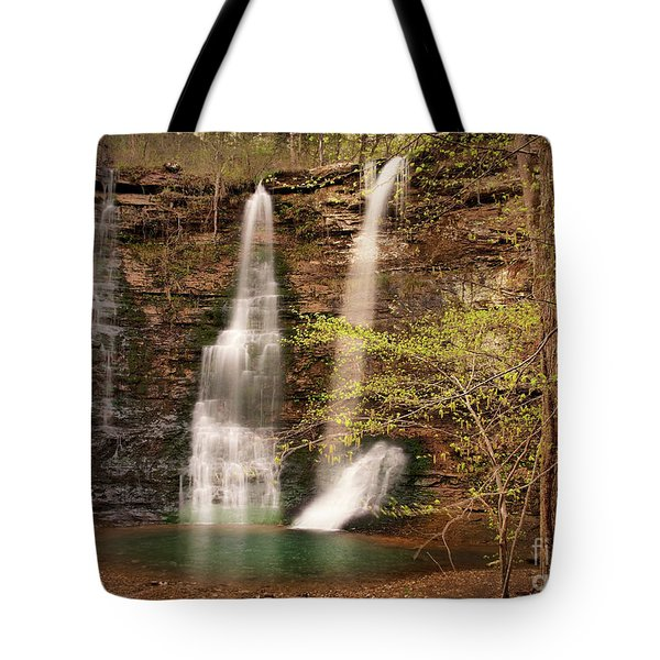Triple Falls Landscape Tote Bag by Tamyra Ayles
