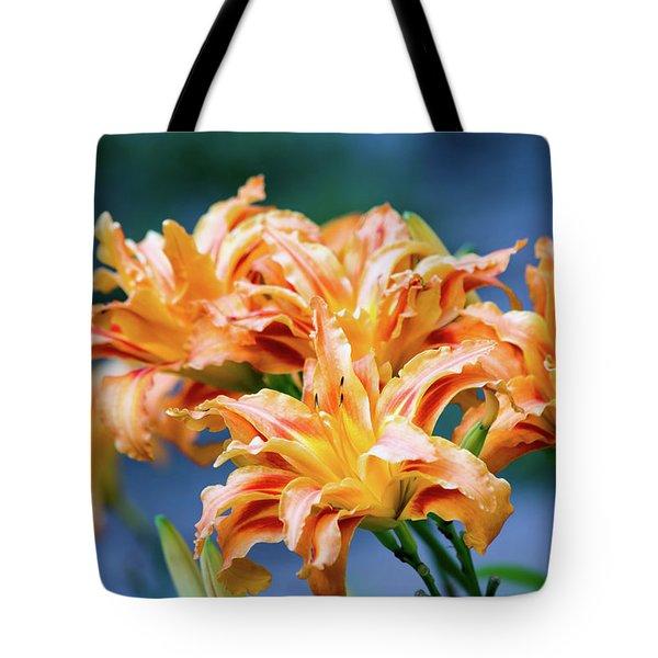 Triple Lilies Tote Bag