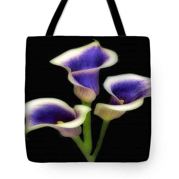 Triple Royal Floral Tote Bag