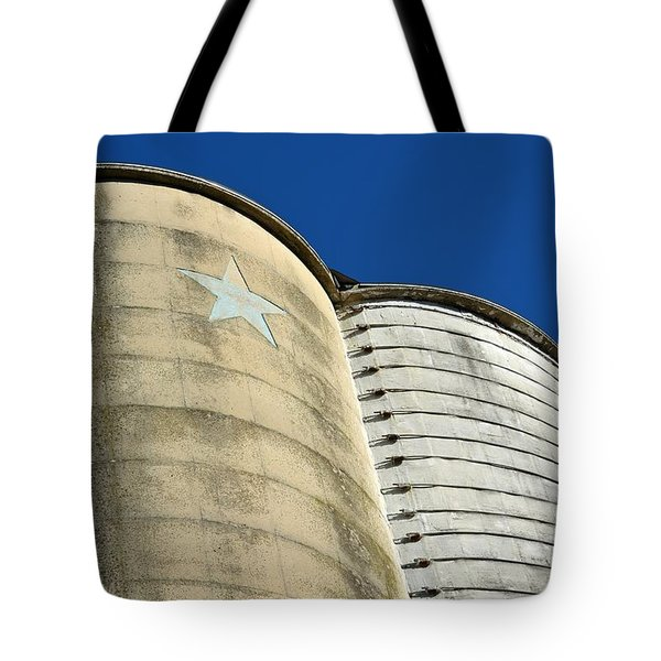Triple Silo With Star Tote Bag