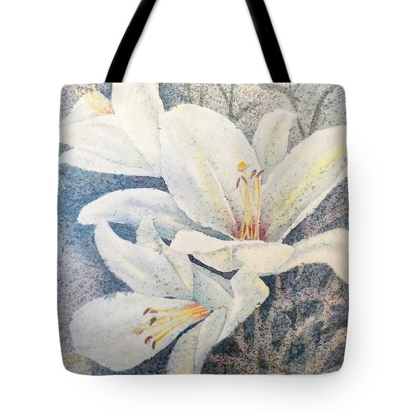 Triplefold White Tote Bag