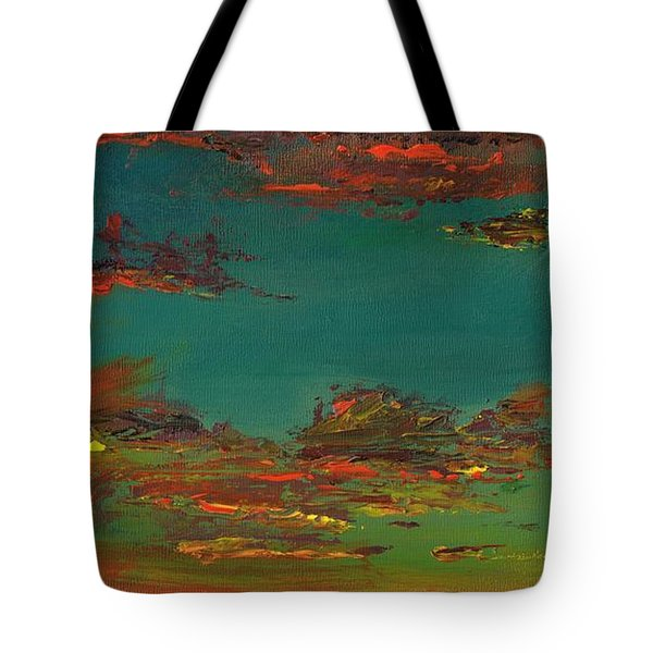 Triptych 3 Tote Bag by Frances Marino