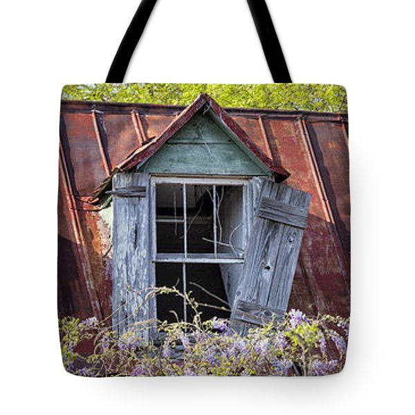 Triptych Windows Tote Bag