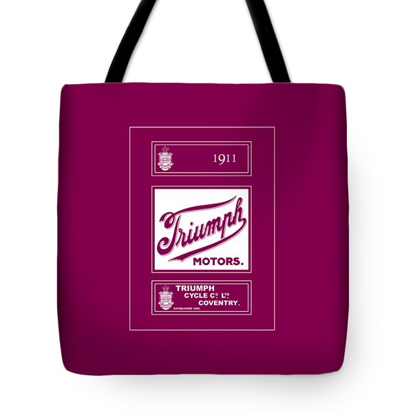 Triumph 1911 Tote Bag by Mark Rogan