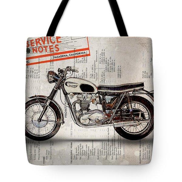 Triumph Bonneville T120 1966 Tote Bag