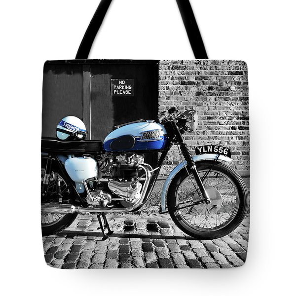 Triumph Bonneville T120 Tote Bag by Mark Rogan