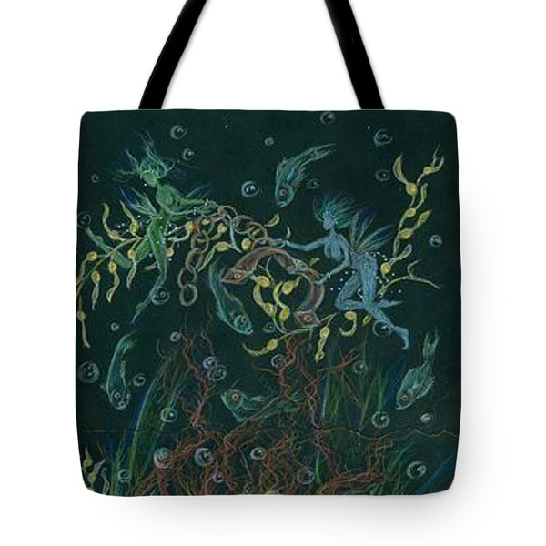 Tote Bag featuring the drawing Triumph Escapes Maximilian's Arch by Dawn Fairies