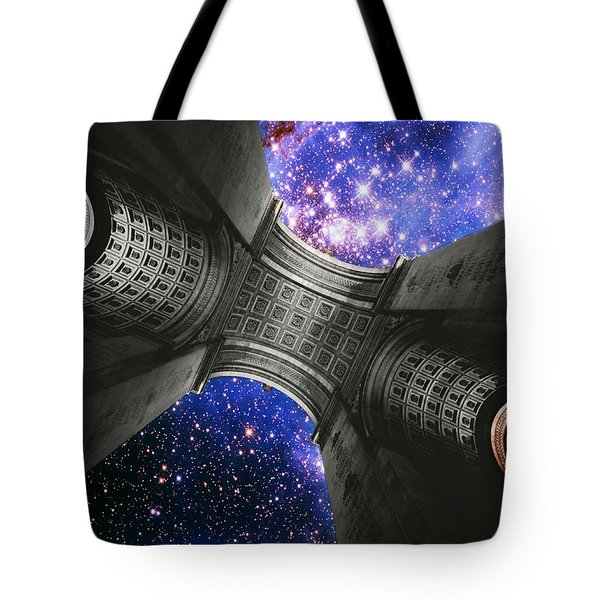 Triumph On A Cosmic Scale Iv - Arc De Triomphe  Tote Bag by Aurelio Zucco