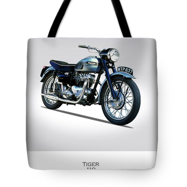Triumph Tiger 110 1956 Tote Bag by Mark Rogan