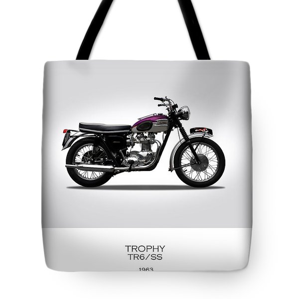 Triumph Trophy 1963 Tote Bag by Mark Rogan