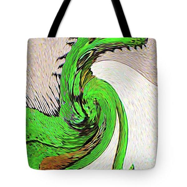 Tote Bag featuring the digital art Triumphant Iguana by Merton Allen