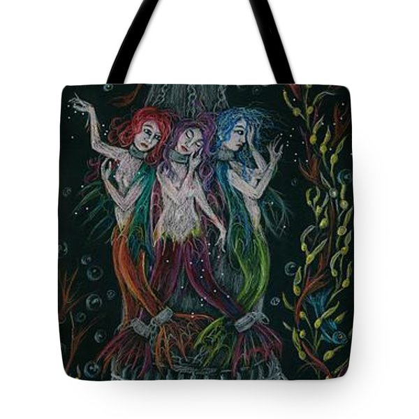 Tote Bag featuring the drawing Triumph's Sisters by Dawn Fairies
