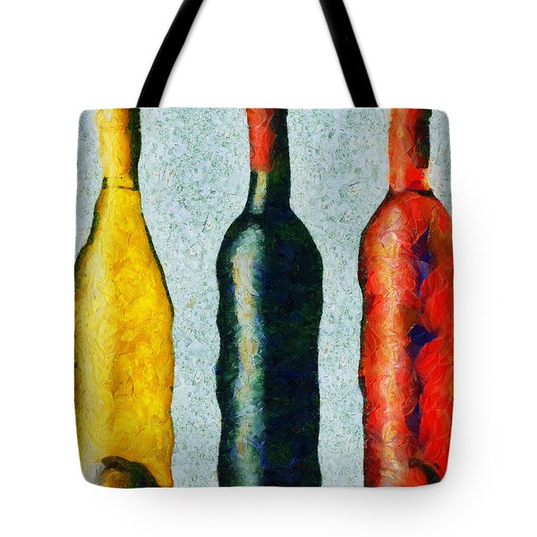 Tote Bag featuring the painting Trois Choix Savoureux by Sir Josef - Social Critic - ART