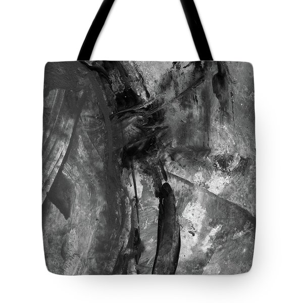 Trojan Horse - Black And White Vertical Painting Tote Bag