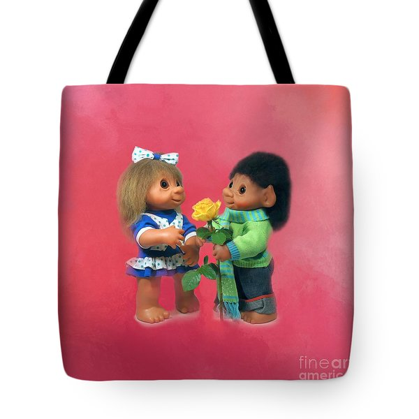 Troll Love Tote Bag by Renee Trenholm