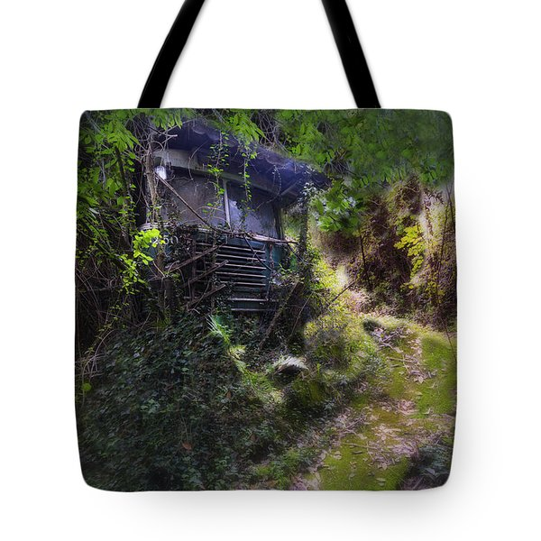 Tote Bag featuring the photograph Trolley Bus Into The Jungle by Enrico Pelos