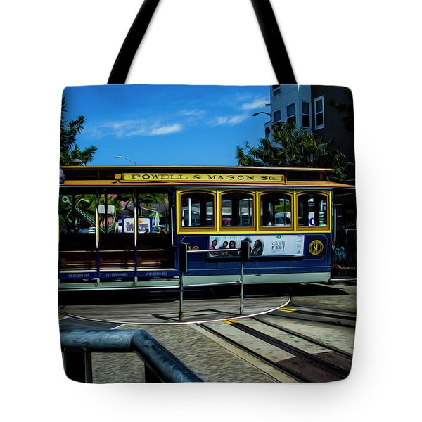 Trolley Car Turn Around Tote Bag