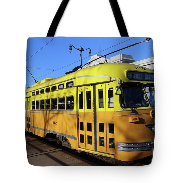 Tote Bag featuring the photograph Trolley Number 1052 by Steven Spak