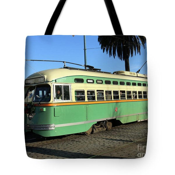 Tote Bag featuring the photograph Trolley Number 1058 by Steven Spak
