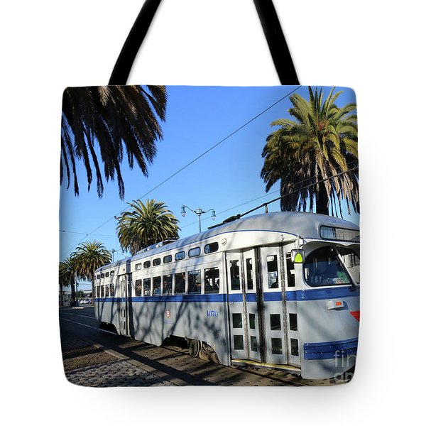 Tote Bag featuring the photograph Trolley Number 1070 by Steven Spak