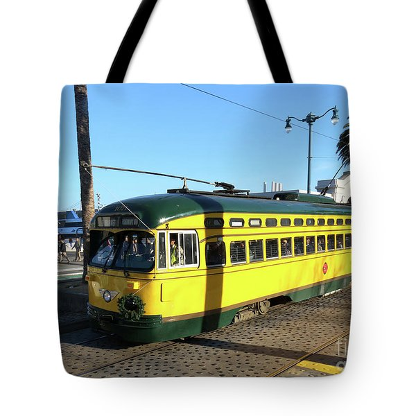Tote Bag featuring the photograph Trolley Number 1071 by Steven Spak