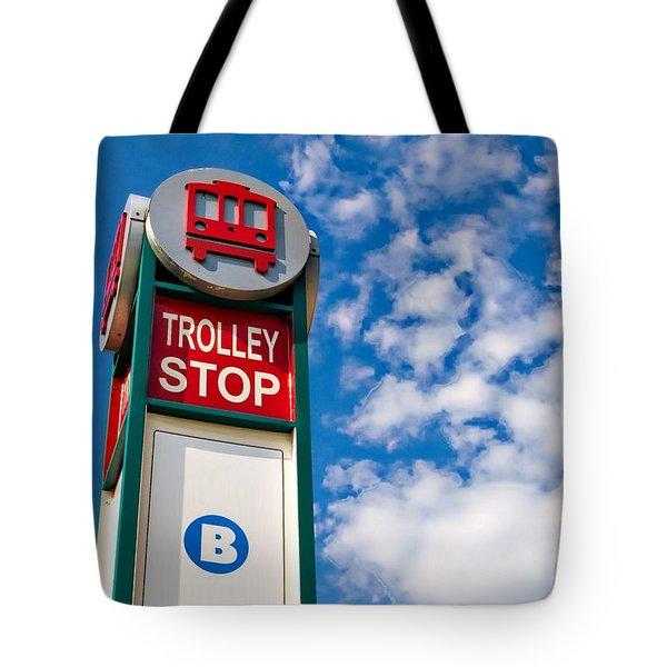 Trolley Stop Tote Bag