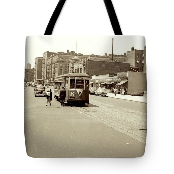 Trolley Time Tote Bag