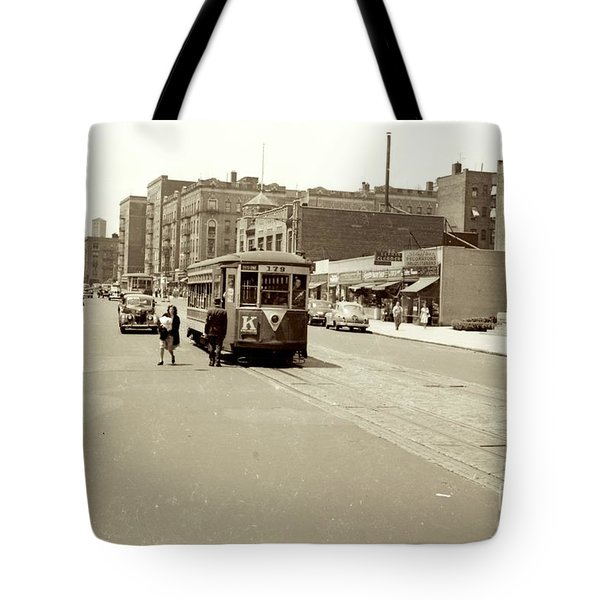 Tote Bag featuring the photograph Trolley Time by Cole Thompson