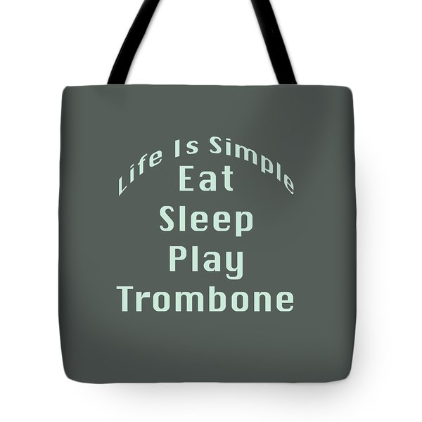 Trombone Eat Sleep Play Trombone 5518.02 Tote Bag