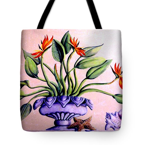 Trompe L'oeil  Birds Of Paradise Tote Bag