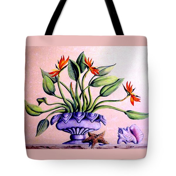 Trompe L'oeil  Birds Of Paradise Tote Bag